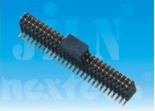1.0mm pin header waterproof connector with cap dual row smt