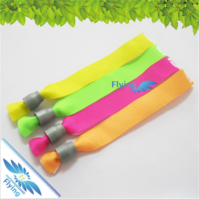 competitive price textile promotional free sample customized woven wristbands events
