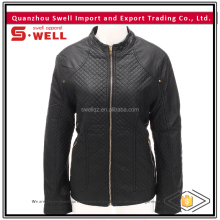 hot sale personalized cheap pu leather jackets for women