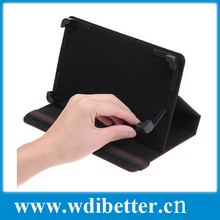 Hot product Universal folio stand pu leather case for 8 inch tablet pc with magic sticker