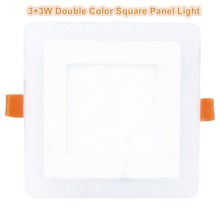 2018 New Design Ultra-thin Double Color Changing Square Led Recessed Ceiling Light