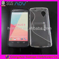 tpu&pc mobile phone case with stand for LG Nexus 5