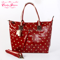 Candy Flowers canvas& pu ladies handbag manufacturer classical tote bag