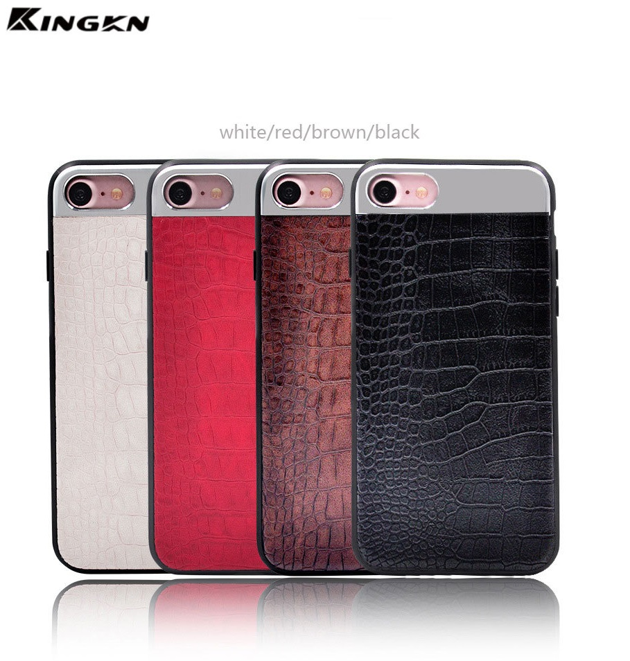 Crocodile Skin PU Leather +TPU Cell Phone Cases with Soft TPU for galaxy s8 case