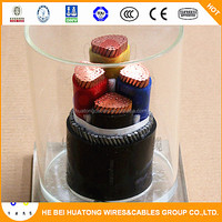 CE TUV KEMA certificated 4 core 120mm Cu/xlpe/swa/pvc armoured cable
