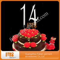New Product 7cm Number Crystal Rhinestone Cake Topper For Anniversary cakes