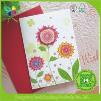 Handmade Paper Border Design New Year Christmas Card Supplier