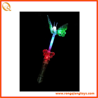 Funny light up butterfly led wand toy with CE SP93616067B