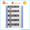 Silver black Aluminum Foil Inventory Control Custom Labels/Legend Property Tag