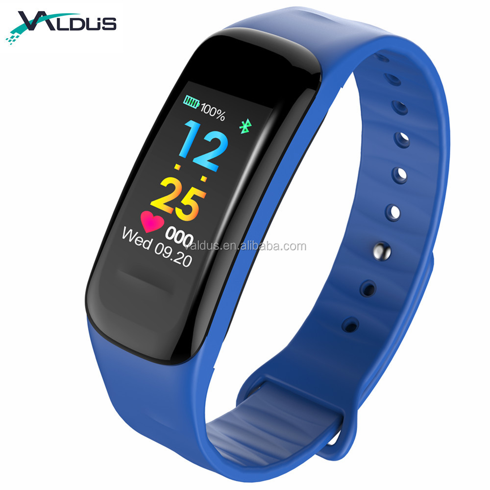 Fitness Tracker <strong>C1</strong> Plus New Version Colorful Screen Smart Bracelet with Heart Rate Blood Pressure Monitor Pedometer