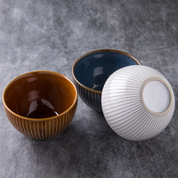 Eco-friendly and stocked high quality glazed cheap price ceramic round porcelain vintage fruit bowl