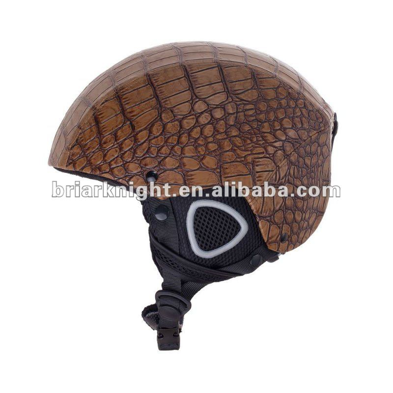 leather ski helmet CE/EN 1077 Approved