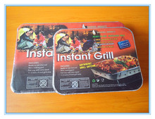 One time use instant barbecue bbq grills