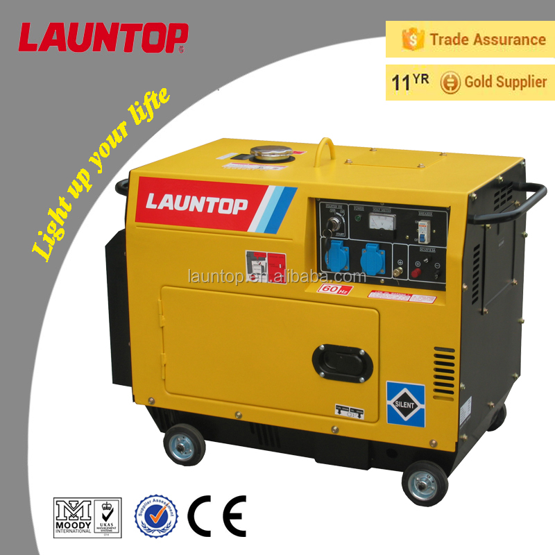 4kva silent diesel generator with 4-stroke,air-cooled, single-cylinder engine 296cc