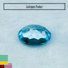 Swiss Blue Topaz Oval Shape Calibrated Lab Created, Natural Stones, Beads, and Bead Strands