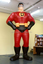 inflatable giant superman/ inflatable customized superman mascot/ iniflatable advertising superman balloon