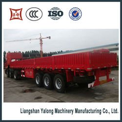 3 axle 40 Feet Drop Side Semi Trailer and truck for sale and export to Southeast Asia