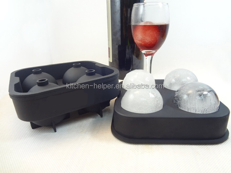 Upgraded Version Ice Ball Maker Zero Ice Ball Mold 4 Whiskey Ice Balls