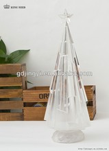 clear acrylic color changing LED decoration artificial Christmas tree