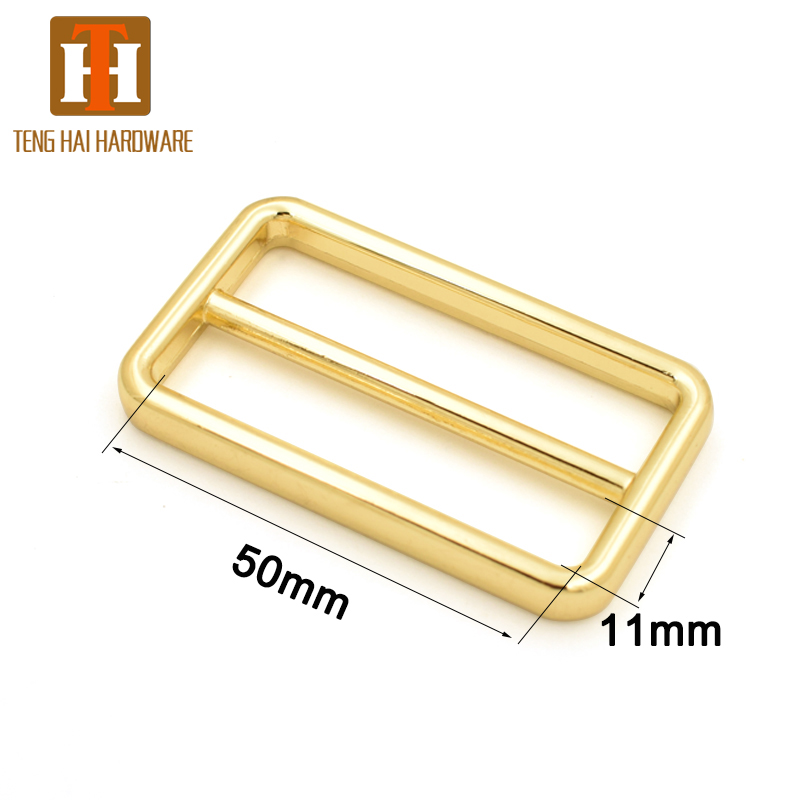 Tenghai Hardware 2 inch metal rectangle tri-glide buckle for adjust