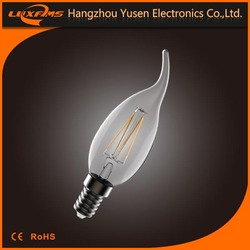 4W Filament Bent Tip Led Candle Tailed Light E14 Base CE RoHS High Quality