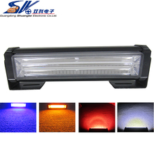 12V 24V waterproof Auto Flash blue red amber white led warning emergency grille light