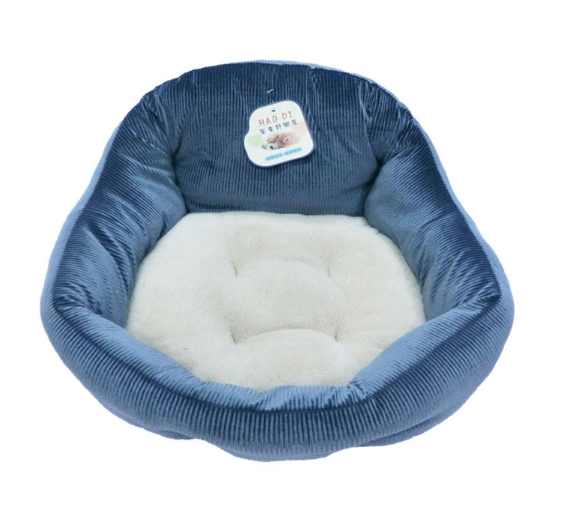 Plush Dog Bed Rectangle Warm Pet Bed, Creative Pattern Design, 19.7x16.14x6.3 inch