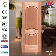 JHK-007 Outerior Garden Deep Trough Canada Natural Sapelli Moulded Accordion Door Skin Manufacture