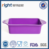 Silicone Bread and Loaf Pan Set Purple, Nonstick, Commercial Grade