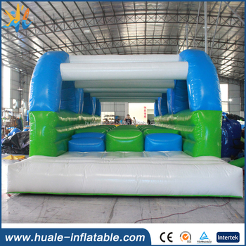 Green colour inflatable obstacle course