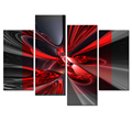 Wholesale Abstract Canvas Printed Artwork Light and Shadow Images Canvas Printing Home Wall Decoration 4-panel