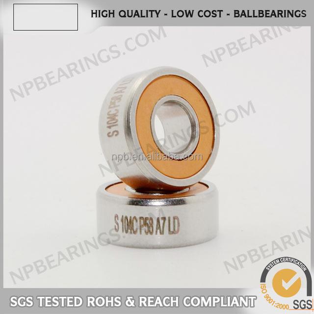 Famous brand ceramic balls plastic miniature thrust bearing