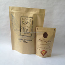 1kg paper bag kraft stand up pouches for coffee bean stand up kraft paper bags