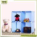 High quality hot sell PP Plastic 4 cubes storage cabinet box