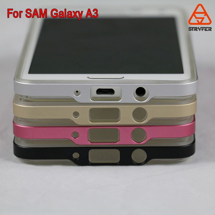 Hot selling for Samsung Galaxy A300F aluminum metal bumper casultra thin dual color for samsung galaxy A3