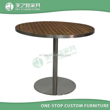 Outdoor Use Wholesale Restaurant Cafe Tables with Teak Wood Table Top