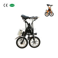 16 inch carton steel adult small wheel electric folding bicycle factory in china