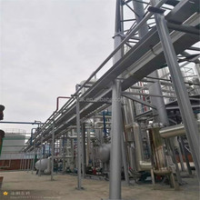 Low cost industrial distillation equipment to refine used black motor oil