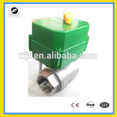 10NM electrical actuator vavle large torque 2/3-way for industry water treatment and system DC5V DC12V DC24V AC220V