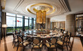 High-end E1 grade Panel chinese restaurant round table furniture