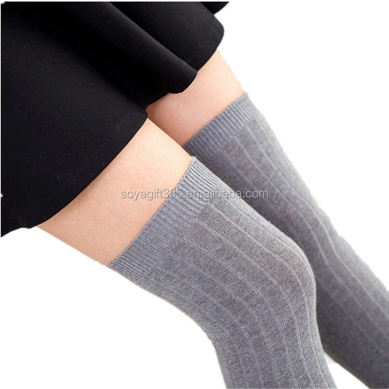 Women Girls Winter Warm Thigh High Over Knees Stockings Long Tights Socks