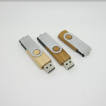 Factory Produce Wholesale wooden usb 360 degree rotating flash drive 32gb bamboo swivel pendrive for accept custom