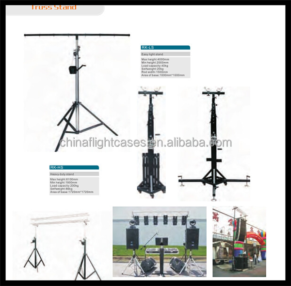 Portable DJ Truss Stand with 8ft Wide, 190cm-610cm High