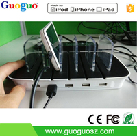 Guoguo Power Bank 2015 Newest Power Dock 5 Station, Power Charger Usb for IPod/ iPhone/ IPad