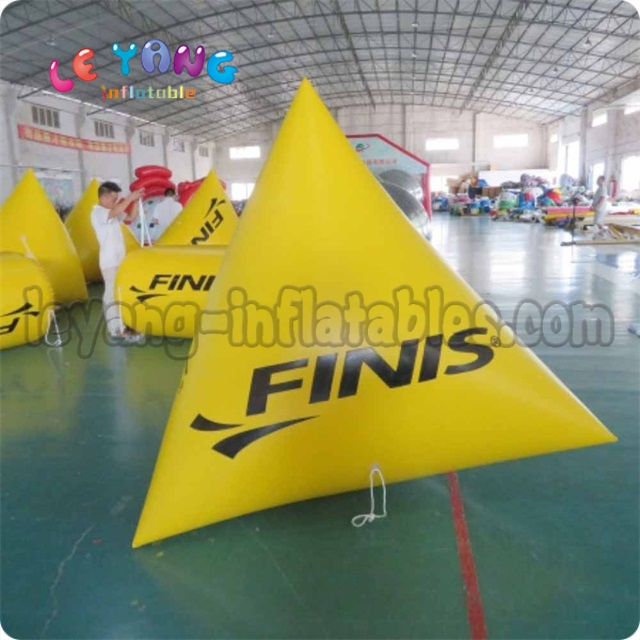 Inflatable Triangle Swim Buoy / Inflatable Water Floating Buoy for Advertising