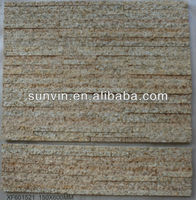 150x600mm natural tiger yellow stone tile for wall cladding