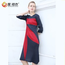 ladies midi pleated dress elegant dress online shopping