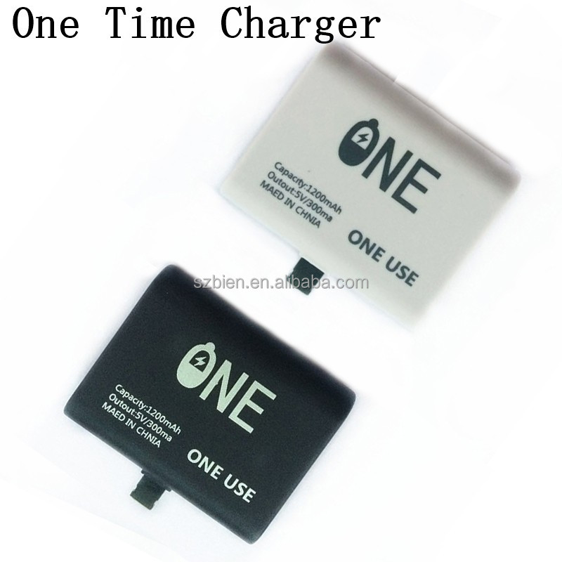 Hot selling One time use Emergency phone charger mini Disposable Power Bank 1200mAh for iphone/Samsung/Huawei