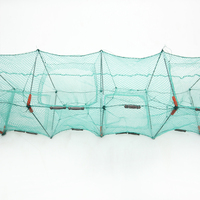 Foldable Umbrella Style Fishing Trap with float rope