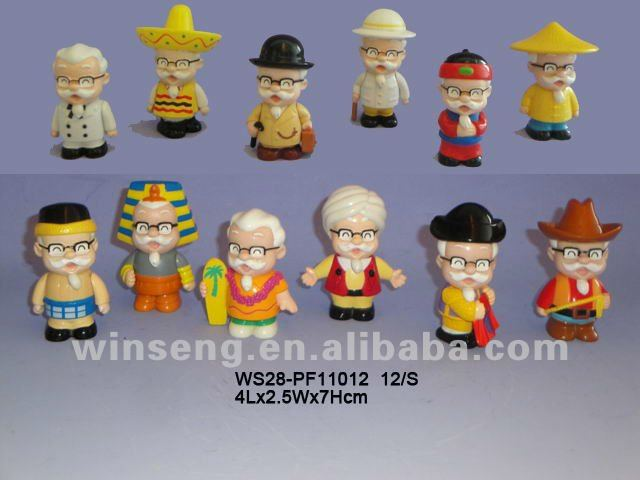 OEM promotion christmas plastic character figurine sculpture statue home decoration birthday promotional gift souvenir i